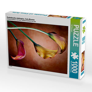Zantedeschia Aethiopica, Calla Blumen 1000 Teile Puzzle hoch