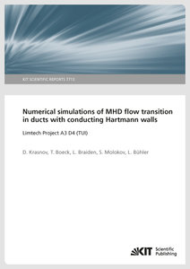 Numerical simulations of MHD flow transition in ducts with condu