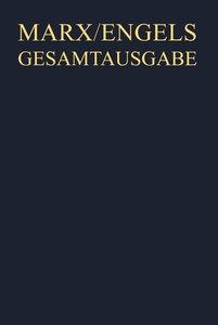 Gesamtausgabe (MEGA), BAND 6, Karl Marx: Das Kapital. Kritik der