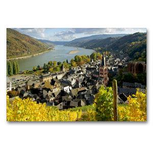 Premium Textil-Leinwand 90 cm x 60 cm quer Bacharach