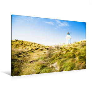 Premium Textil-Leinwand 120 cm x 80 cm quer Waipapa Point Lighth