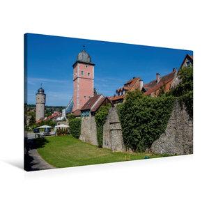 Premium Textil-Leinwand 90 cm x 60 cm quer Stadtmauer Ochsenfurt