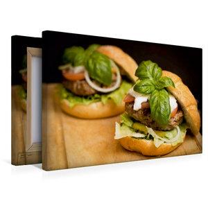 Premium Textil-Leinwand 45 cm x 30 cm quer Burger im Doppelpack