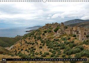Greek views / UK-version (Wall Calendar perpetual DIN A3 Landsca
