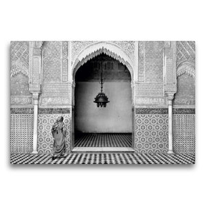 Premium Textil-Leinwand 75 cm x 50 cm quer Madrasa Attarine in F