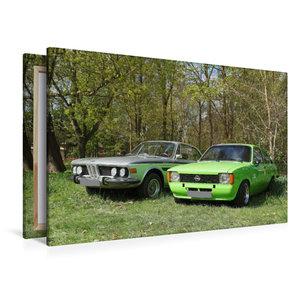 Premium Textil-Leinwand 120 cm x 80 cm quer BMW und Opel Kadett