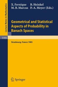Geometrical and Statistical Aspects of Probability in Banach Spa