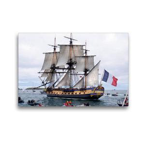 Premium Textil-Leinwand 45 cm x 30 cm quer Het fregat Hermione,