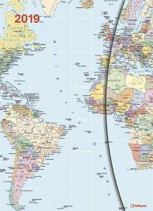 World Maps 2019 Magneto Diary large