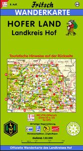 Hofer Land, Landkreis Hof 1 : 50 000. Fritsch Wanderkarte