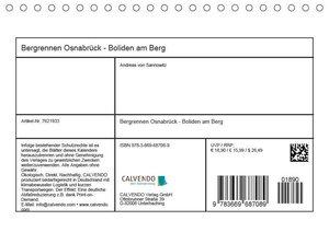 Bergrennen Osnabrück - Boliden am Berg (Tischkalender 2019 DIN A