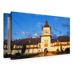 Premium Textil-Leinwand 75 cm x 50 cm quer Kloster Neamt