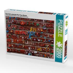Gum Wall unterhalb Pike Place Market 2000 Teile Puzzle quer