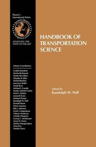 Handbook of Transportation Science