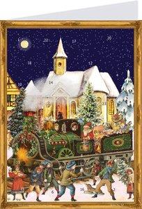 """Postkarten-Adventskalender \""""Zug\"""""""