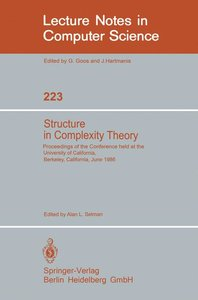 Structure in Complexity Theory