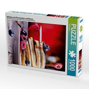 Stillleben mit Pfannkuchen und Beeren 1000 Teile Puzzle hoch
