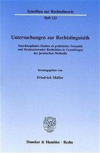 Untersuchungen zur Rechtslinguistik