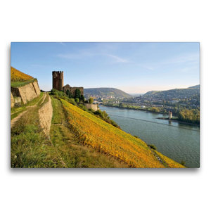 Premium Textil-Leinwand 75 cm x 50 cm quer Burg Ehrenfels