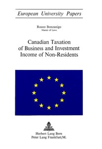 Canadian Taxation of Business and Investment Income of Non-Resid