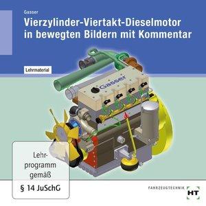 Lehrmaterial Vierzylinder-Viertakt-Dieselmotor in bewegten Bilde