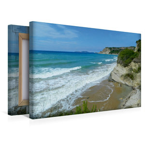 Premium Textil-Leinwand 45 cm x 30 cm quer Strand von Arillas