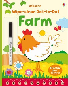 Wipe Clean Dot-to-Dot Farm