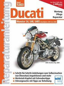 Ducati Monster mit 4 Ventilen, Desmo, Wasserkühlung, Einspritzun