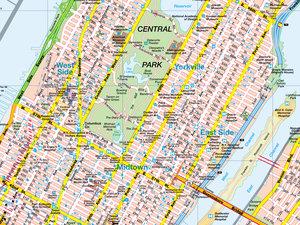 New York State & City Manhattan 1 : 800 000. Straßenkarte