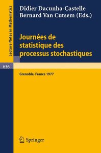 Journees de Statistique des Processus Stochastiques
