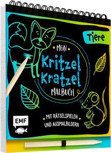 Mein Kritzel-Kratzel-Malbuch - Tiere