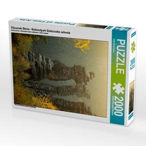 CALVENDO Puzzle Küssende Steine - Nationalpark Sächsische schwei