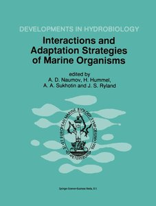 Interactions and Adaptation Strategies of Marine Organisms