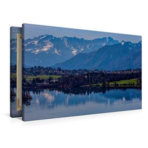 Premium Textil-Leinwand 90 cm x 60 cm quer Riegsee bei Murnau