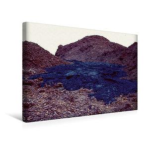 Premium Textil-Leinwand 45 cm x 30 cm quer Erstarrte Lava