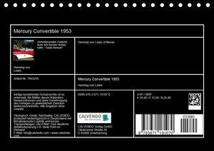 Mercury Convertible 1953 - Ein Traum in Pink (Tischkalender 2020
