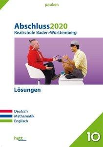 Abschluss 2020 - Realschule Baden-Württemberg Lösungen