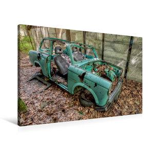 Premium Textil-Leinwand 90 cm x 60 cm quer Rostlaube - Trabant