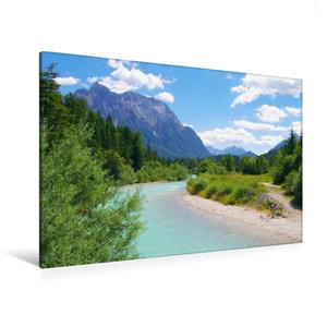 Premium Textil-Leinwand 120 cm x 80 cm quer Der Isar Naturerlebn