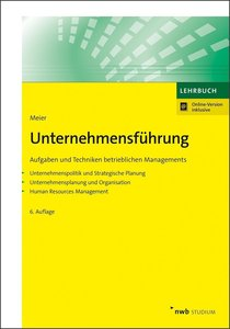 Unternehmensführung, mit 1 Buch, mit 1 Online-Zugang