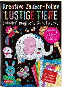 Kreative Zauber-Folien: Lustige Tiere: Set mit 10 Zaubertafeln,