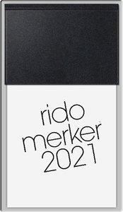 rido Tischkalender 2021 merker PVC schwarz