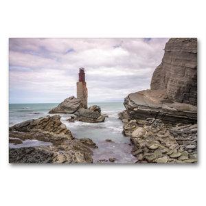Premium Textil-Leinwand 90 cm x 60 cm quer Tuahine Lighthouse