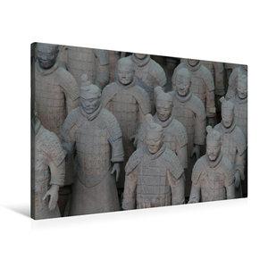 Premium Textil-Leinwand 90 cm x 60 cm quer Die Terrakotta Armee