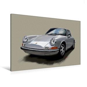 Premium Textil-Leinwand 120 cm x 80 cm quer Porsche 911 Targa