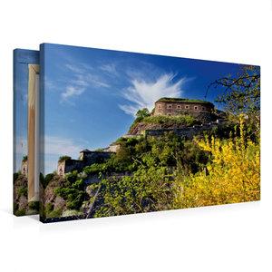 Premium Textil-Leinwand 75 cm x 50 cm quer Festung Ehrenbreitste