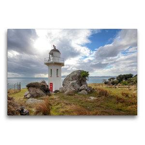 Premium Textil-Leinwand 75 cm x 50 cm quer Baring Head Lighthous