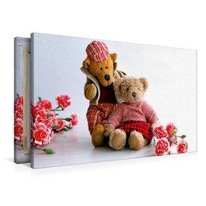 Premium Textil-Leinwand 90 cm x 60 cm quer Teddybären