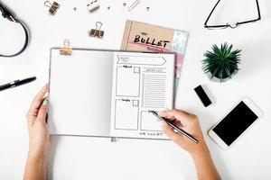 Mein Bullet Journal - Watercolor pink