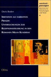 Irritation als narratives Prinzip: Untersuchungen zur Rezeptions